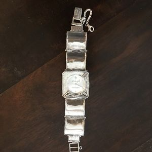 Silpada sterling silver hammered watch